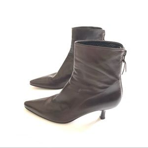 STUART WEITZMAN Brown Leather Ankle Boots